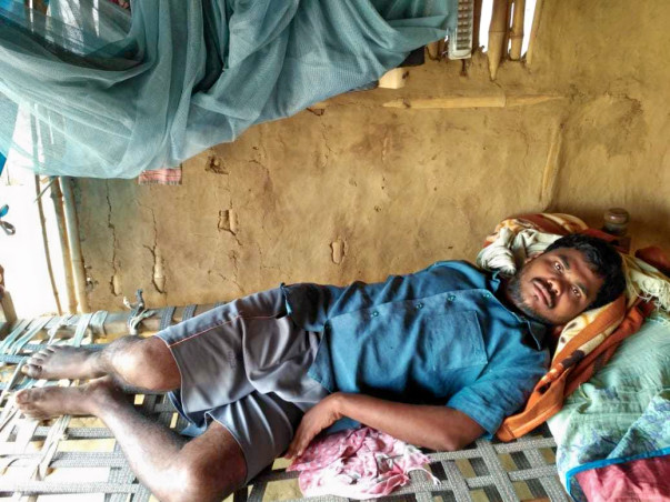 Help Simhachalam's treatment for paralysis