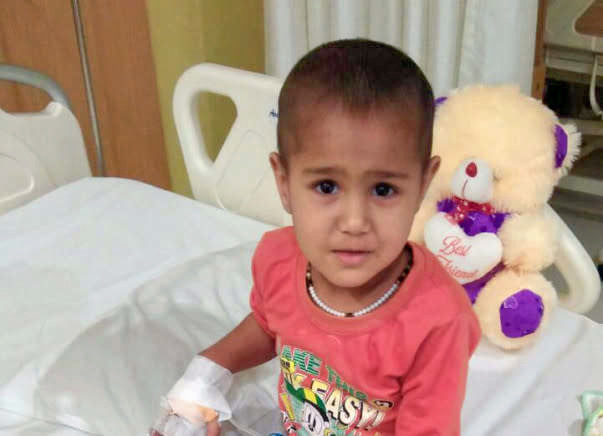3-year-old Aarohi Has Only One Kidney And It Has A Tumor On It