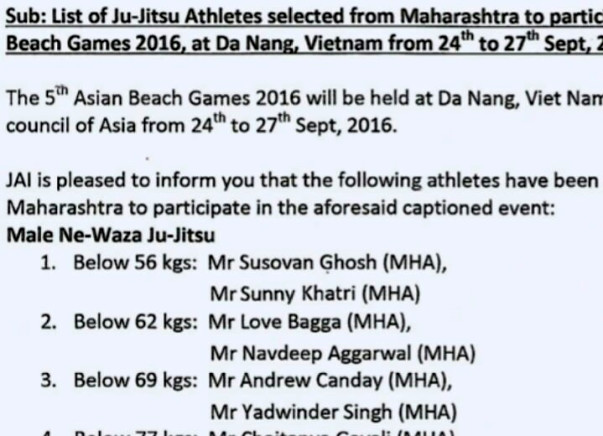 Asian beach Games Sponsorship