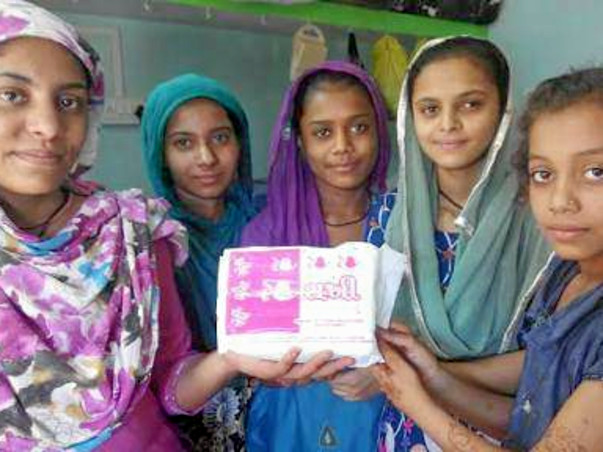 Sanitary pads for girls in Bhuta village