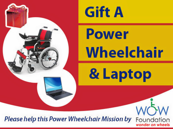 Gift A Power Wheelchair & Laptop