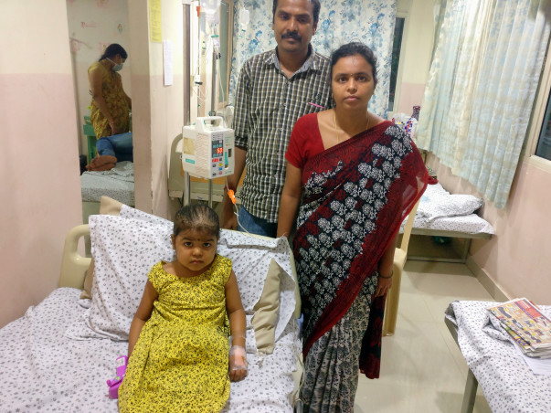 4-year-old Hasini suffering from bone marrow cancer needs your help