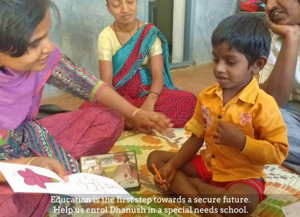 Champion Dhanush and help him secure a better future!
