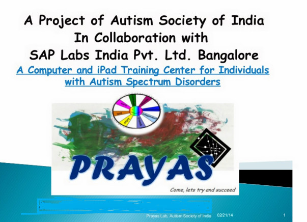 To set up Digital Learning Center for special and disable children
