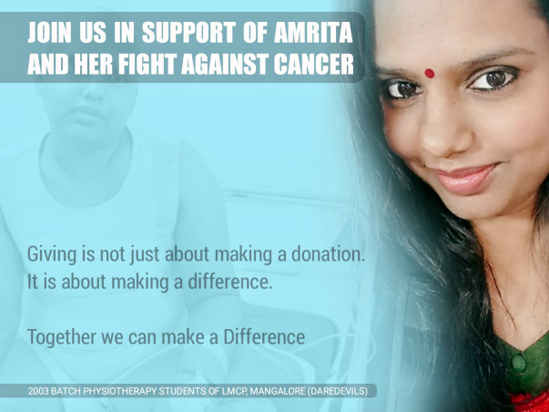 Help Amrita Fight Cancer