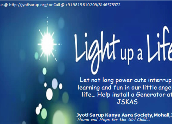 Fund a Generator at Jyoti Sarup Kanya Asra - Completed !