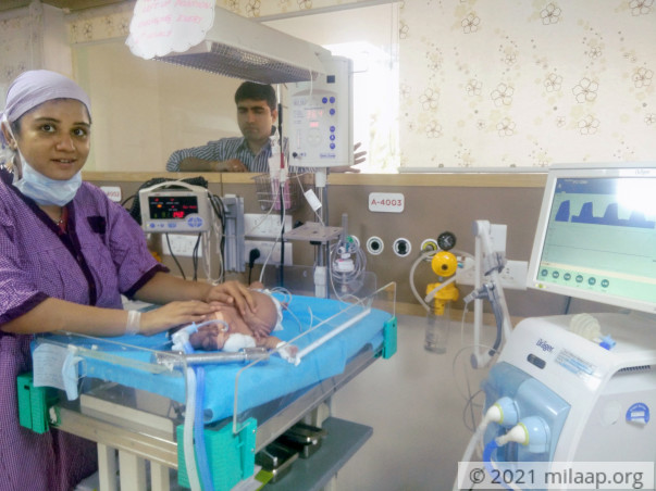 Help Divya and Mayur save their 4-month-old baby boy