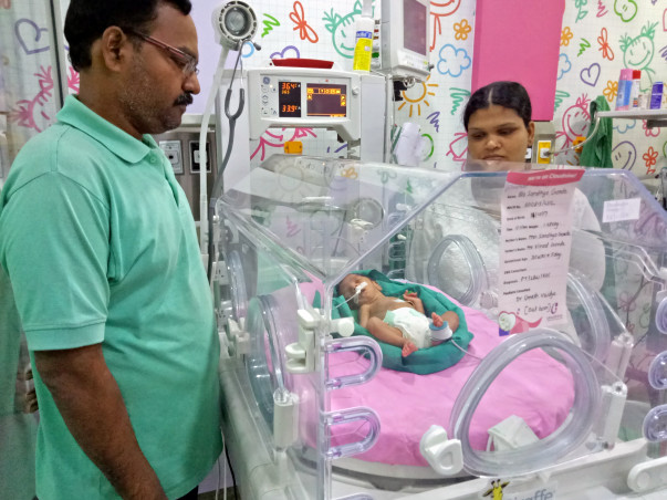 Sandhya needs help to save her new-born premature baby