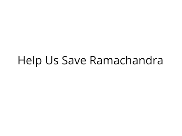 Help Ramachandra Stand On His Legs