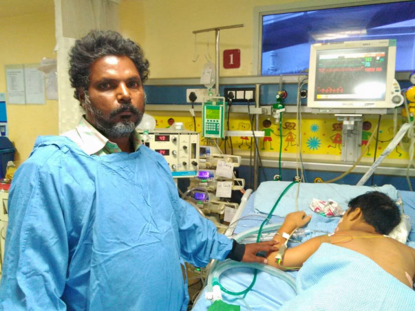 12-year-old Vijay with severe Pneumonia needs your support to survive