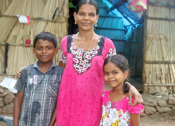 HOME FOR HOMELESS SHOBANA AND HER KIDS