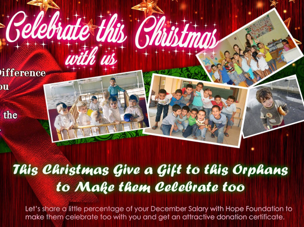 Let's Celebrate This Christmas With these Orphan Children and Spread the Ray of Hope, bring happiness to them