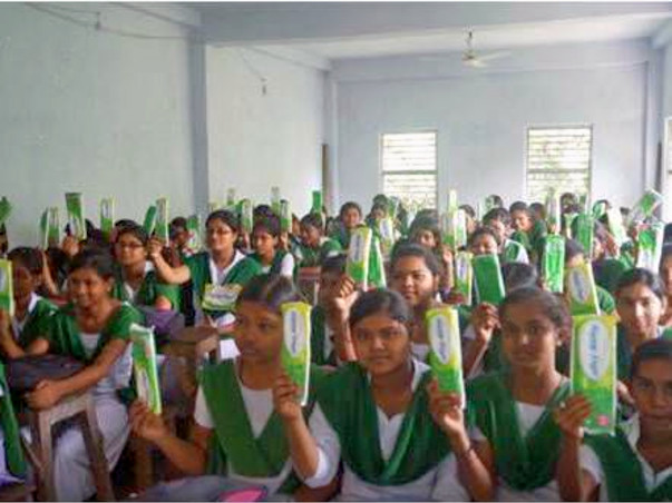 HELP TO PROMOTE USE OF SANITARY NAPKINS IN RURAL SCHOOLS