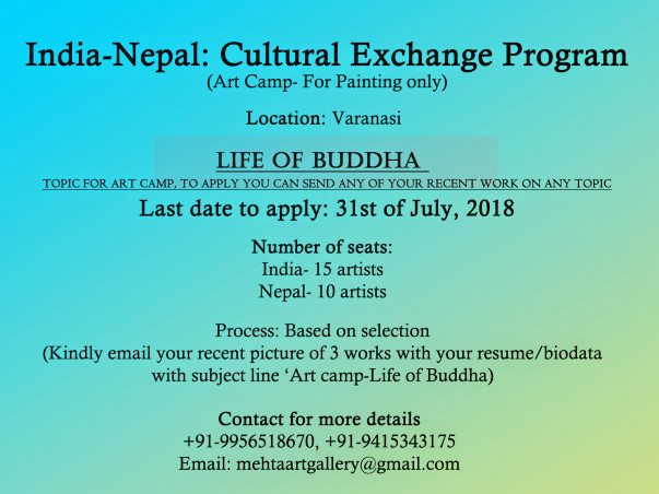 Cultural Exchange Program, India- Nepal Artists On Painting In Sarnath