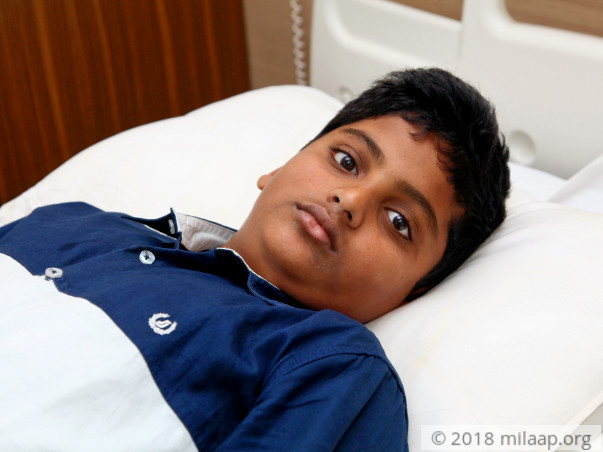 15-year-old Krishna is suffering in pain due to swelling in his joints