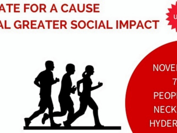 I'm running a 10 K Marathon to support for social entrepreneurs from Andhra Pradesh & Telangana, India