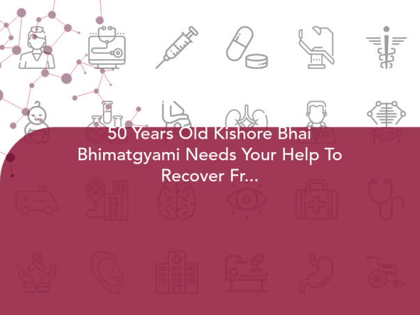 50 Years Old Kishore Bhai Bhimatgyami Needs Your Help To Recover From Paralysis