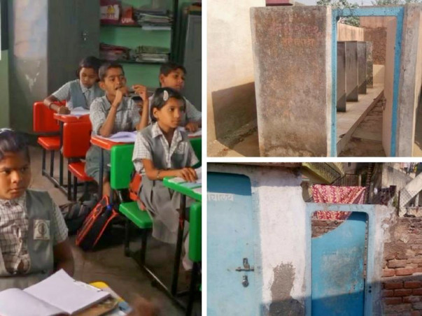 Support Toilets for Children in Zapwadi School