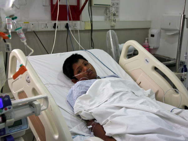 Mohammed fights for his life in the ICU