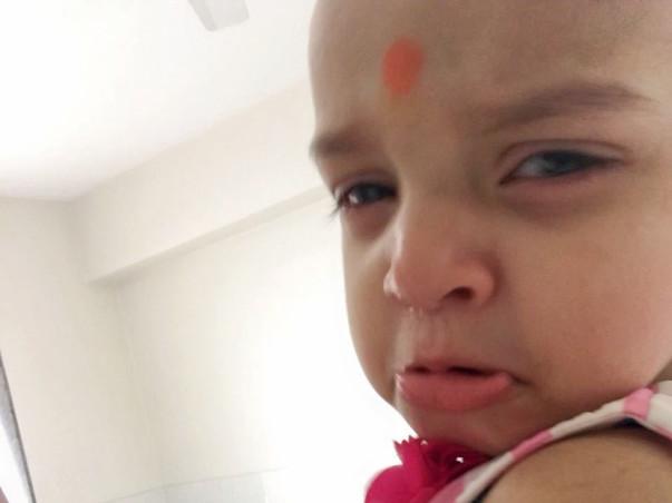One-year-old Baby Shanaya is Undergoing Her Eye Tumor Operation.