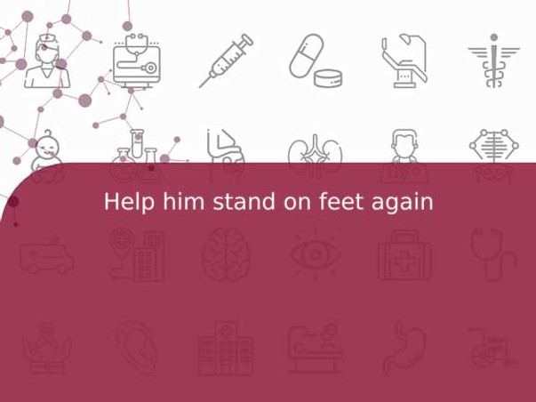 Help him stand on feet again
