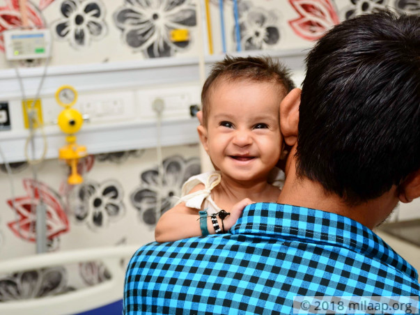 5-month-old Samiksha needs a heart surgery in order to breathe freely