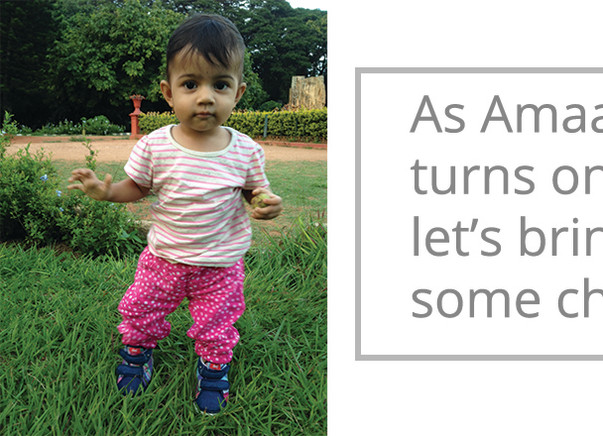 Let's bring some cheer to some orphan children on Amaaya's first birthday