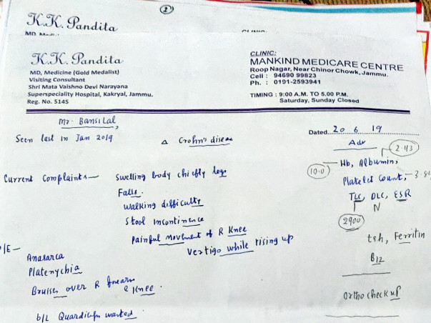 Help Bansilal Recover From Multiple Ailments