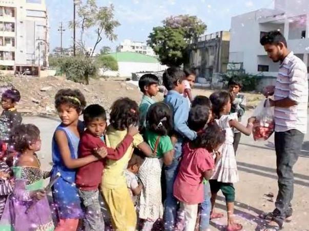 Hanuman Jayanti celebrate With Poor people. Target start for #Maruti