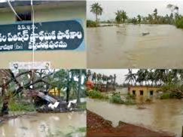 save my life to reconstruct -Damaged house in floods