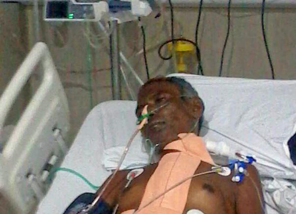 Help Mallapa Kamble a social worker, fight against  heart failure