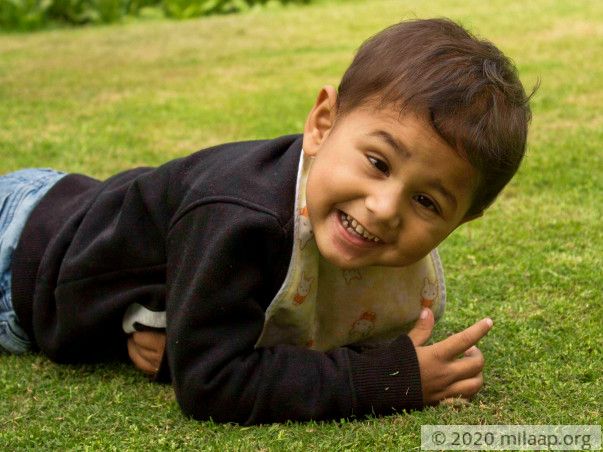 3 Years Old, Abdul Is Too Weak To Walk And Suffers From Liver Failure