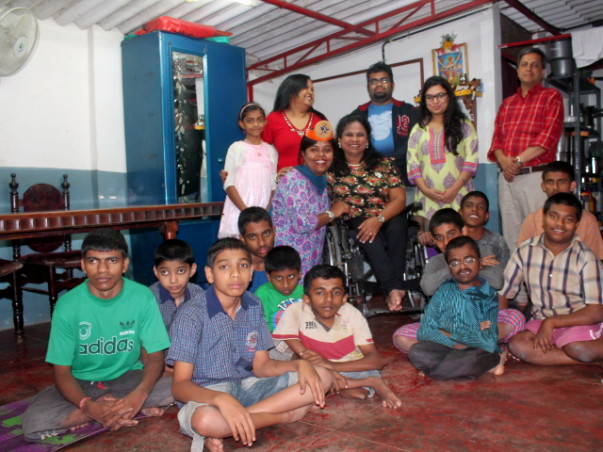 Fundraising to help physically disabled children in Bangalore.
