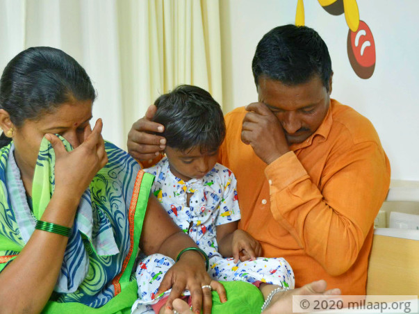 Baby shreya nagane needs a complicated surgery to recover