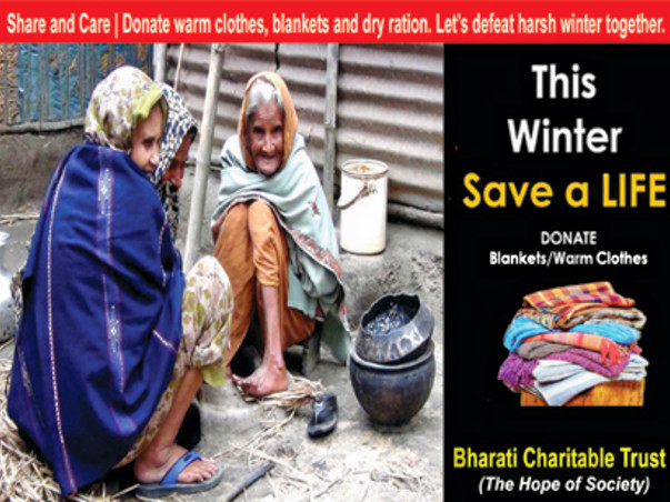 Donate One Blanket in this Winter ,Save One Poor People Life.