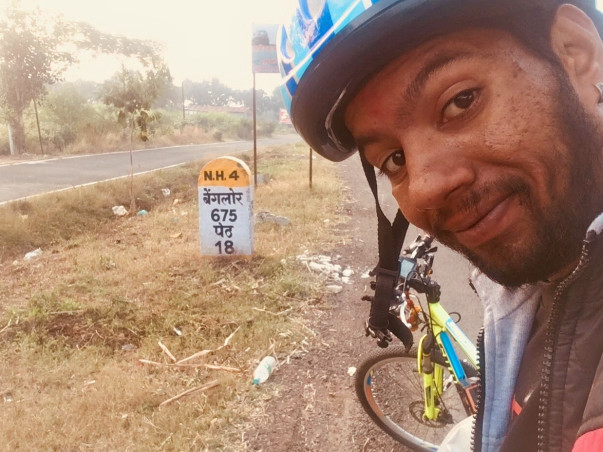Help Govind in cycling the length and breadth of India