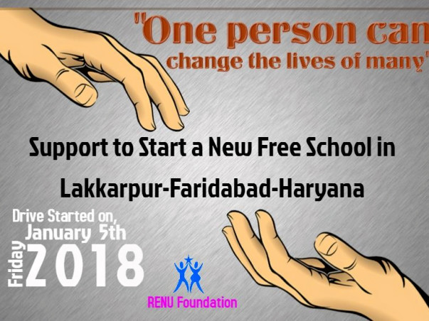 Sponsor To Start New Free School for Children in Lakkarpur-Faridabad
