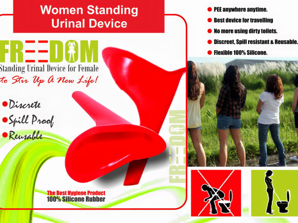 Standing Urination Device for Woman.