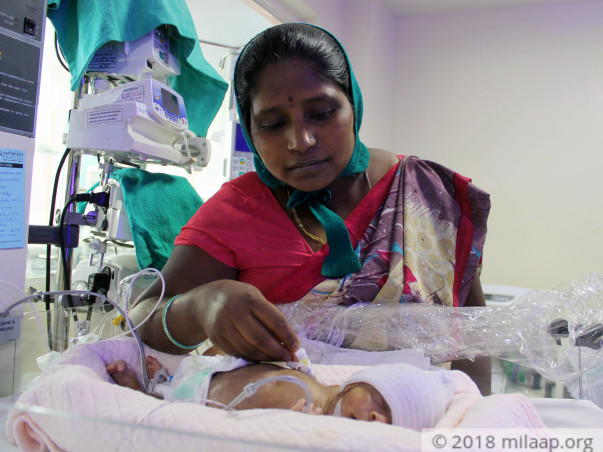 Helpless Mother Is Struggling To Save Premature Baby Born