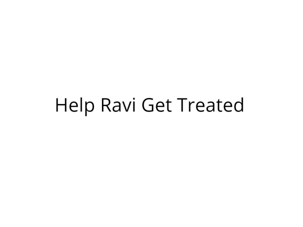 Help Ravi Fight Lung Cancer