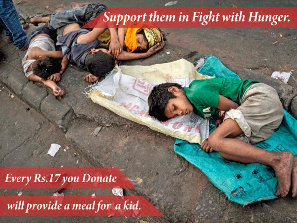 Help Homeless Kids To Fight With Hunger
