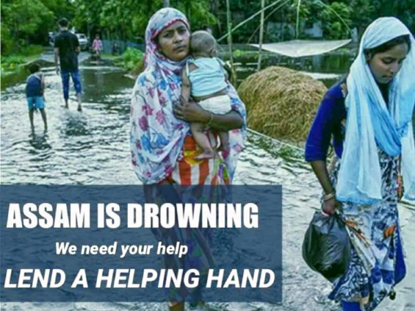 Assam Flood Victims.