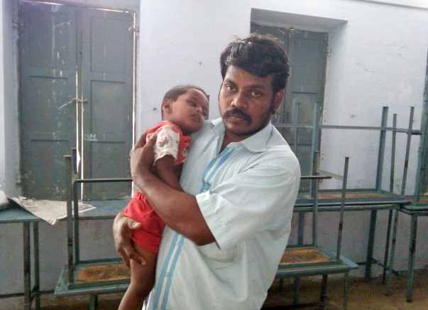 Two-year-old Muruganath urgently needs to undergo heart surgery