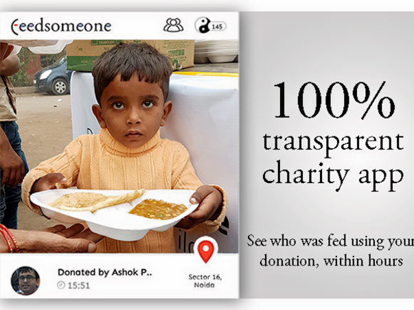 Feedsomeone - Feed a million kids, everyday - 100% transparent charity