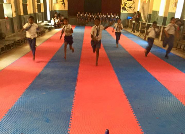 Fund raising through Bengaluru Marathon helped us to procure Sports Mat for the school - Thanks for your support.