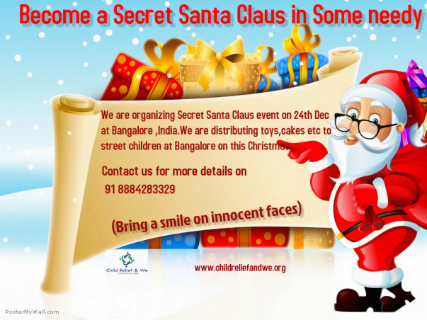 I am fundraising to aims to ensure every needy child to get surprise gift on this Christmas