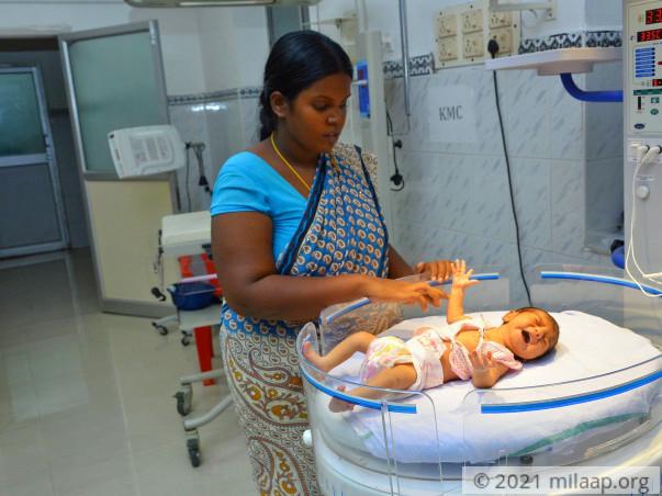 Baby of Meenakshi needs your help to survive