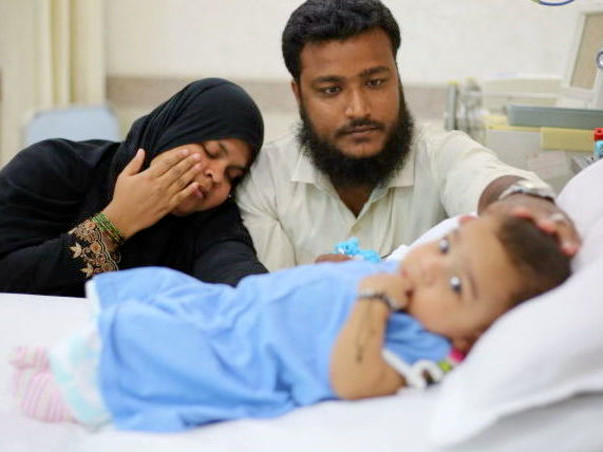 Poor parents struggle to raise funds for their son's treatment
