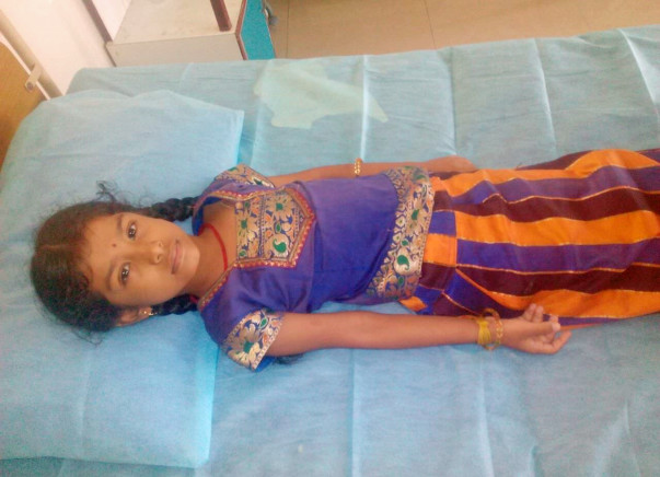 7-year-old Prabha struggles to go to school due to her heart disease