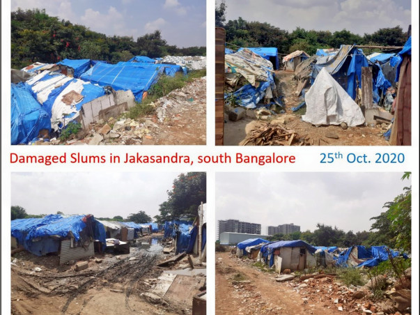 Help flood victims of a slum in Bangalore